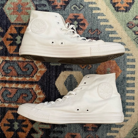 Converse All Star Pure White High Top Sneakers